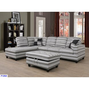 Ebern Designs Jaylin Sectional with Ottoman