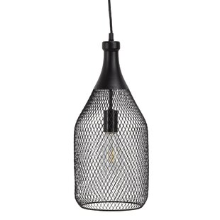 Renfrow Curved Metal Frame 1-Light Teardrop Pendant by Williston Forge