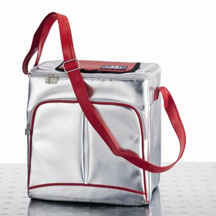 19 L Cooler In Silver And Red By Symple Stuff