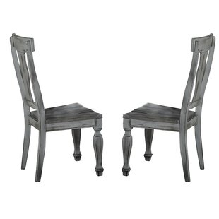 Block Solid Wood Dining Chair (Set of 2) Alcott Hill