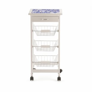Kitchen Trolley With Glass Top By Galileo
