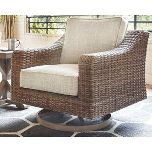 Farmersville Swivel Patio Chair with Cushions