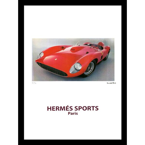 Crystal 1960 S Ferrari Oil Gas Cap Paperweight Colorcard De
