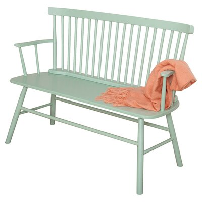 Annie Rubber Wood Bench by Beachcrest Home