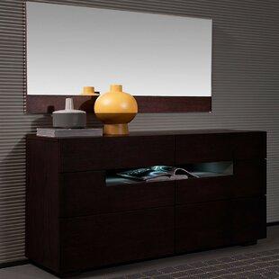 Orren Ellis Camron 6 Drawer Dresser with Mirror