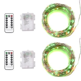 The Holiday Aisle Kaminsky 33 ft. 100-Light Novelty String Lights (Set of 2)