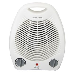 Portable 2 Settings Office 1 500 Watt Electric Fan Compact Heater With Adjule Thermostat