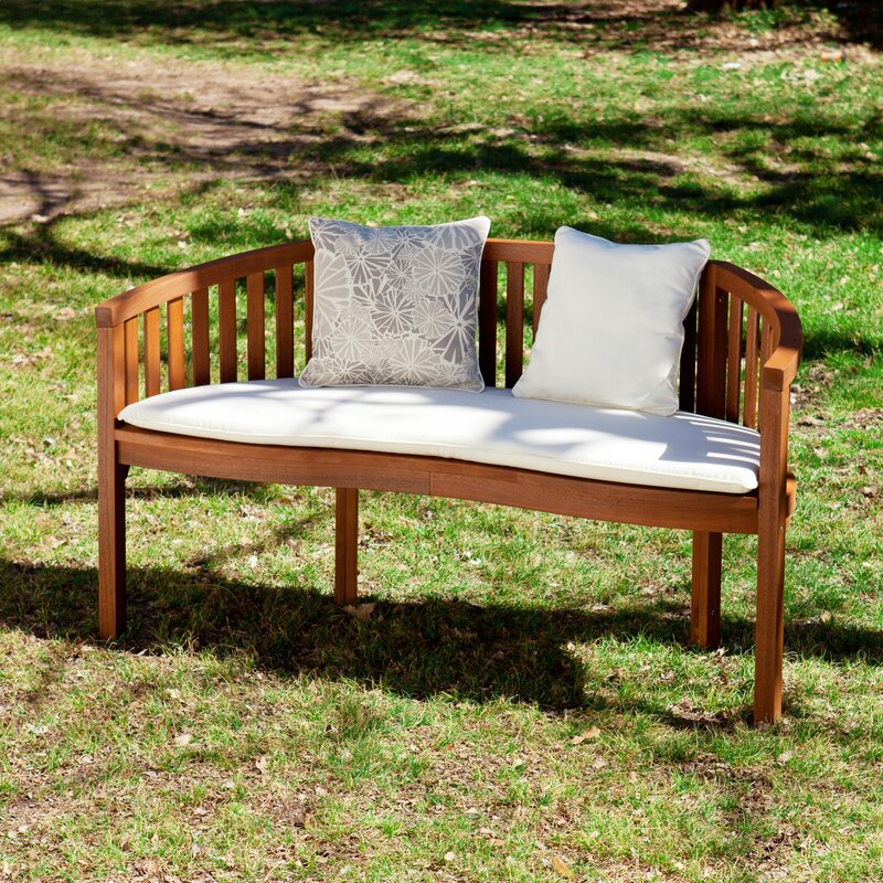 Darby Home Co Gridley Wood Garden Bench Reviews Wayfair