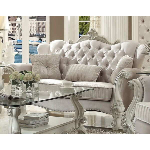 Admirable Ivory Loveseat Wayfair Bralicious Painted Fabric Chair Ideas Braliciousco