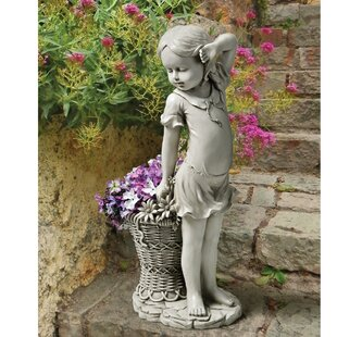 Design Toscano Frances the Flower Girl Statue