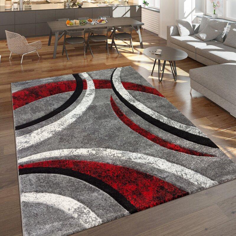 Zipcode Design Hailee Grey Red Rug