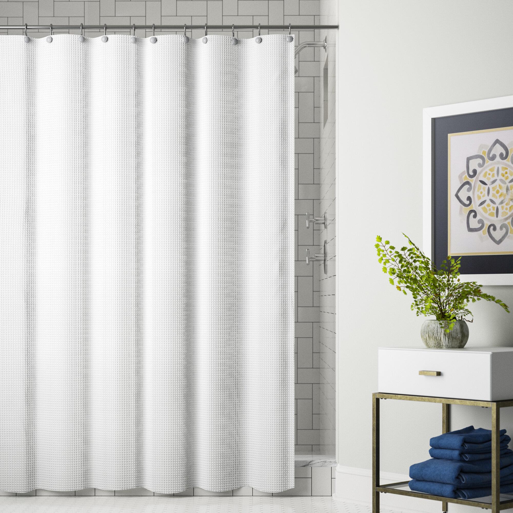 Symple Stuff Swilley Single Shower Curtain Reviews Wayfair