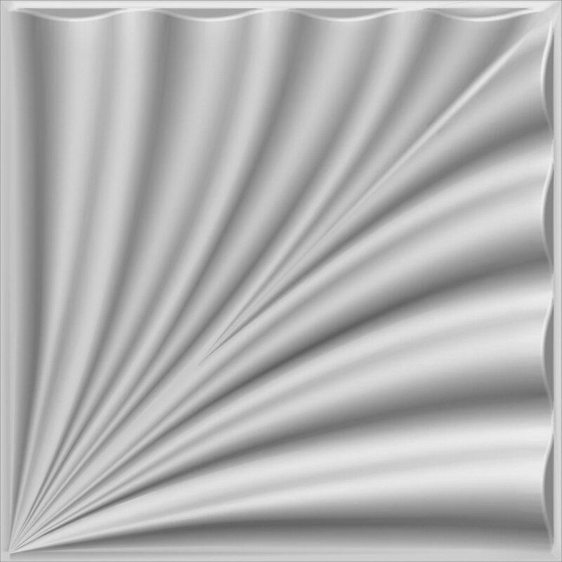 "dundee deco falkirk fifer 20"" x 20"" bamboo wall paneling"