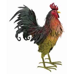 Metal Rooster 39 Inch H