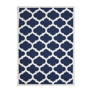 Aroa Cupola Hand-Tufted Navy Blue Area Rug DecorShore