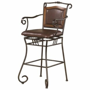 Charlcombe Wood Accented Metal 46 Bar Stool by Fleur De Lis Living