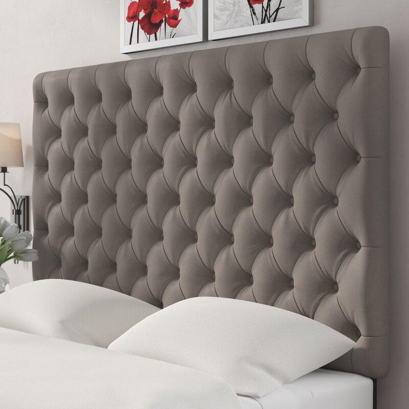 Genial Tufted Upholstered Panel Headboard