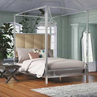 Price Check Wicklund Upholstered Canopy Bed by Willa Arlo Interiors Reviews (2019) & Buyer's Guide