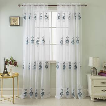 Mercer41 Floodwood Solid Room Darkening Rod Pocket Curtain Panels Reviews Wayfair