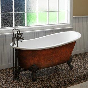 Read Reviews Cast Iron Clawfoot 61 x 30 Freestanding Soaking Bathtub ByCambridge Plumbing