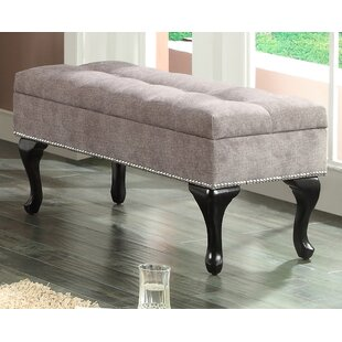 WorldWide HomeFurnishings Fabric Storage Bench With Stud Detail