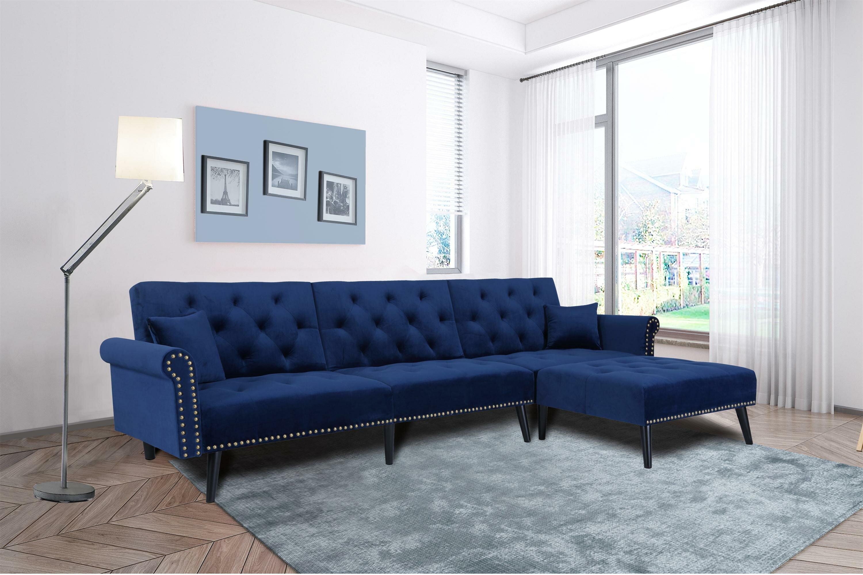 Rosdorf Park Zetilla 115 Reversible Sleeper Sectional Reviews Wayfair
