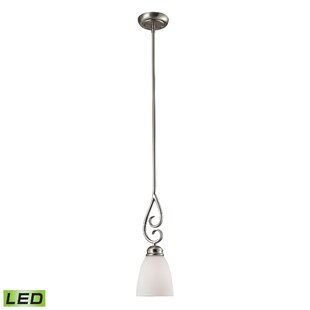 Fleur De Lis Living Wallace 1-Light LED Bell Pendant