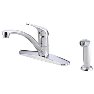 Danze® Melrose Single Handle Deck Mounted Kitchen Faucet with Side Spray and Deck Plate