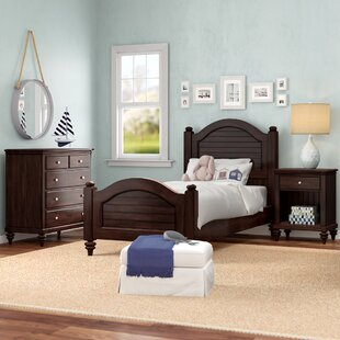 Compare prices Harrison Traditional Twin Panel 3 Piece Bedroom Set By Beachcrest Home