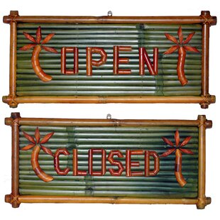 Porter Open and Closed Garden Sign by Bay Isle Home
