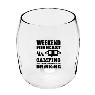 Bennett Camping Forecast 19 oz. Plastic Stemless Wine Glass By Millwood Pines