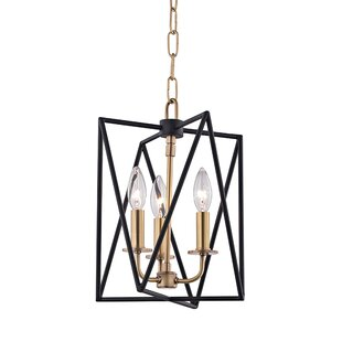 Fitz 3-Light Square/Rectangle Pendant by Willa Arlo Interiors