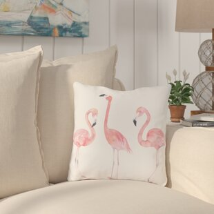 Longview Flamingo Friends Outdoor Throw Pillow