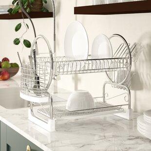 Ordnung & Aufbewahrung Dependable Kitchencraft Chrome Plated Dish Drainer