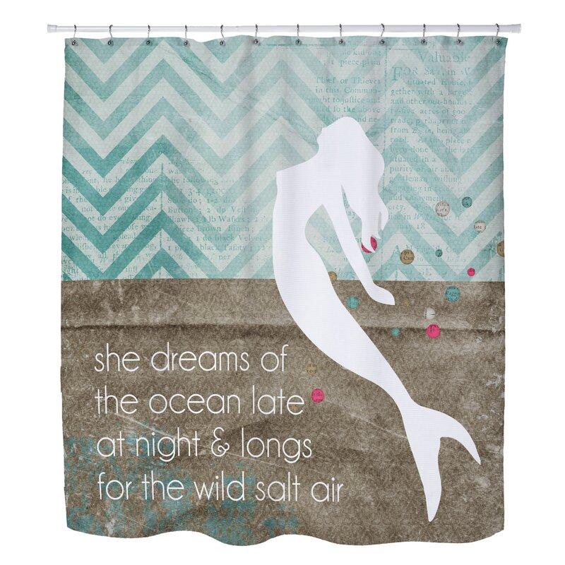 Superieur Highland DunesHolte Mermaid Wild Salt Air Shower Curtain