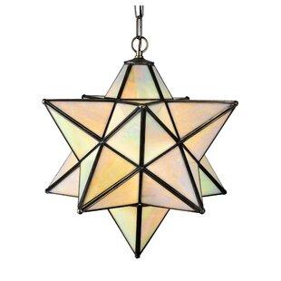 Meyda Tiffany 1-Light Geometric Pendant