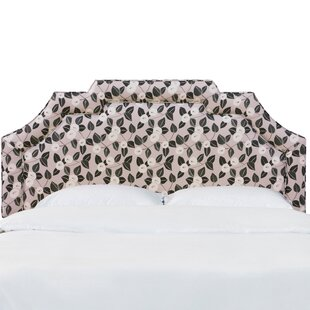 Darby Home Co Ballsallagh Notched Border Dorset Floral Upholstered Panel Headboard