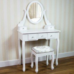 Beecroft Vida Nishano Dressing Table Set With Mirror By Rosalind Wheeler