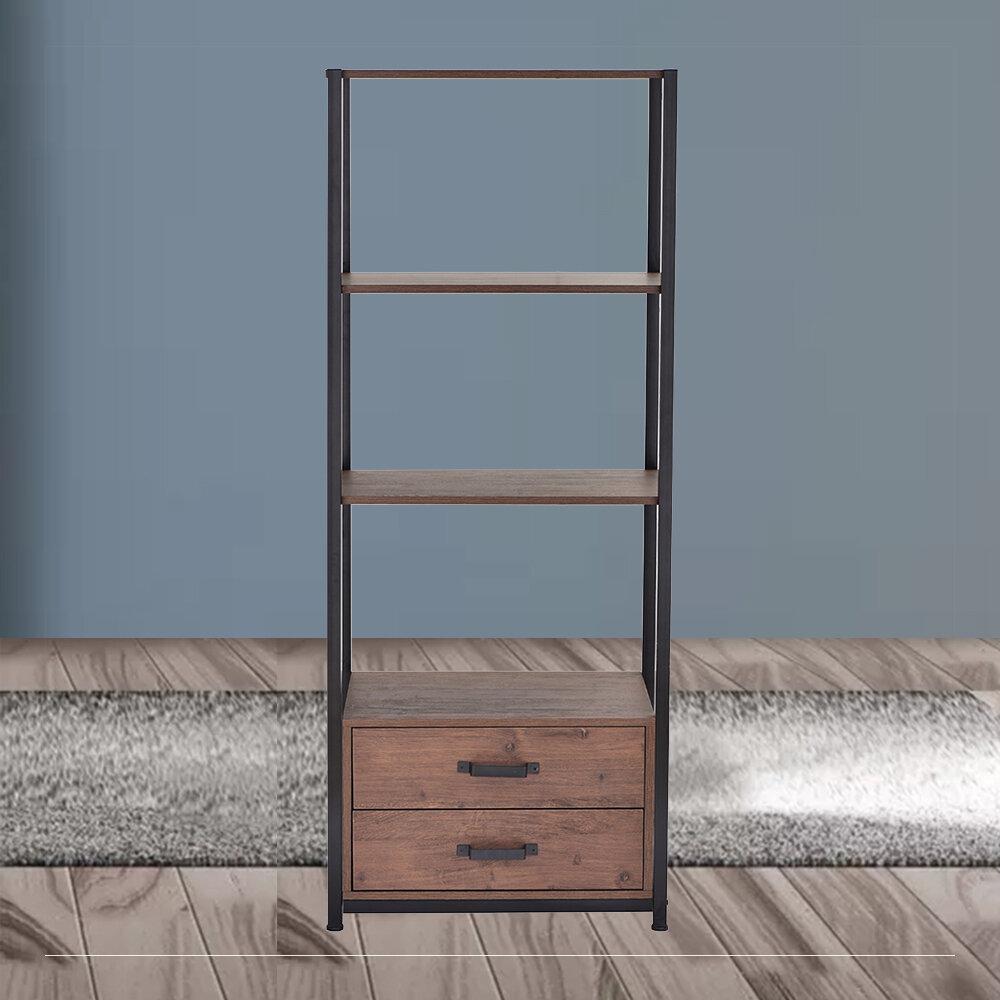 17 Stories Murad 59 8 H X 23 6 W Iron Standard Bookcase Wayfair