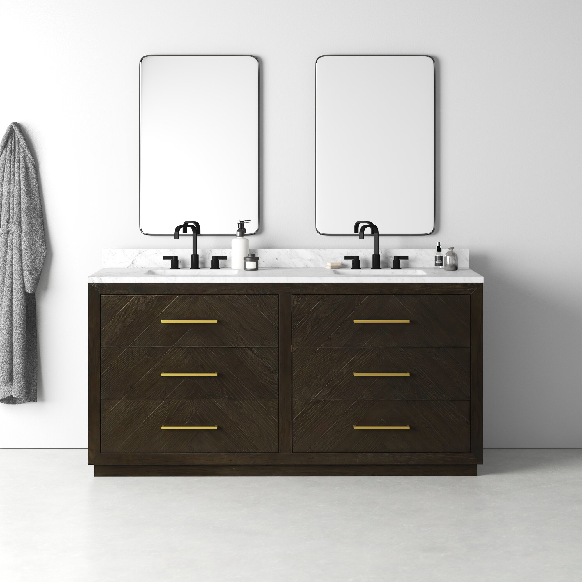 Lanny 72 Double Bathroom Vanity Set Reviews Allmodern