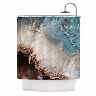 East Urban Home 'Quartz Waves' Shower Curtain