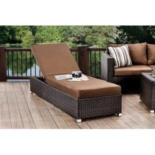 Hokku Designs Sheryl Chaise Lounge with Cushion