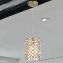 Aspen Creative Corporation 1-Light Cylinder Pendant