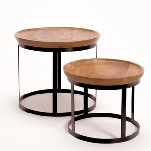 Compare Aria 2 Piece Nesting Tables Set by Gracie Oaks