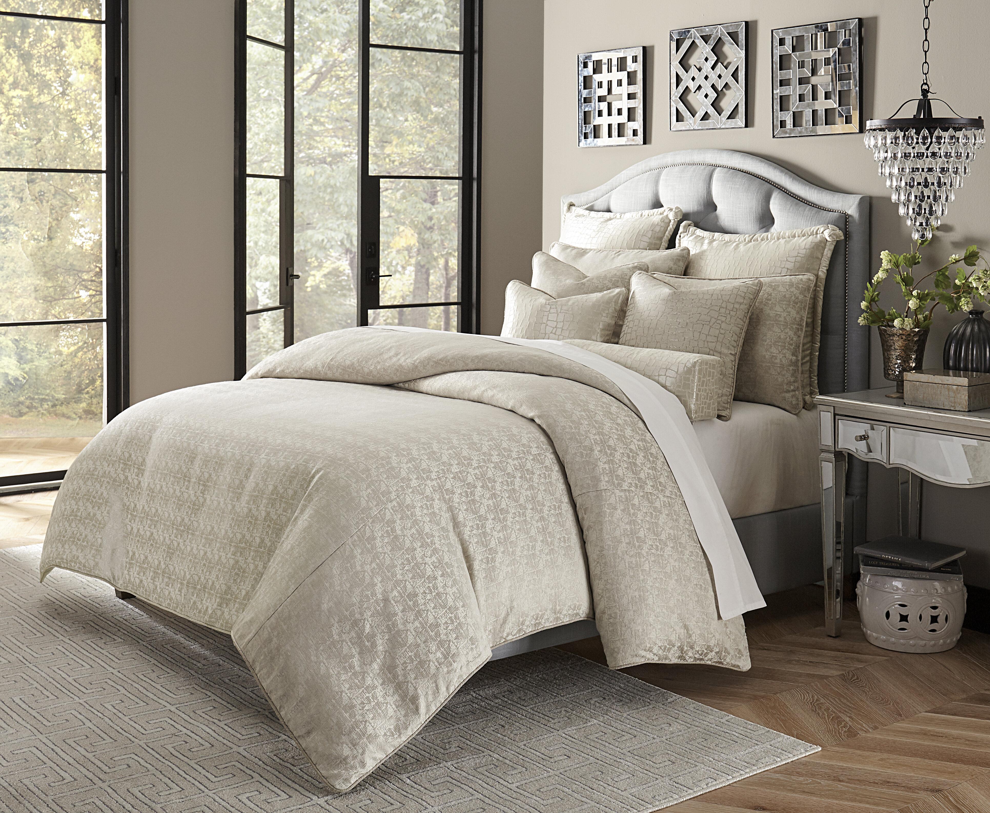 Luxury Gray Silver Comforters Sets Perigold
