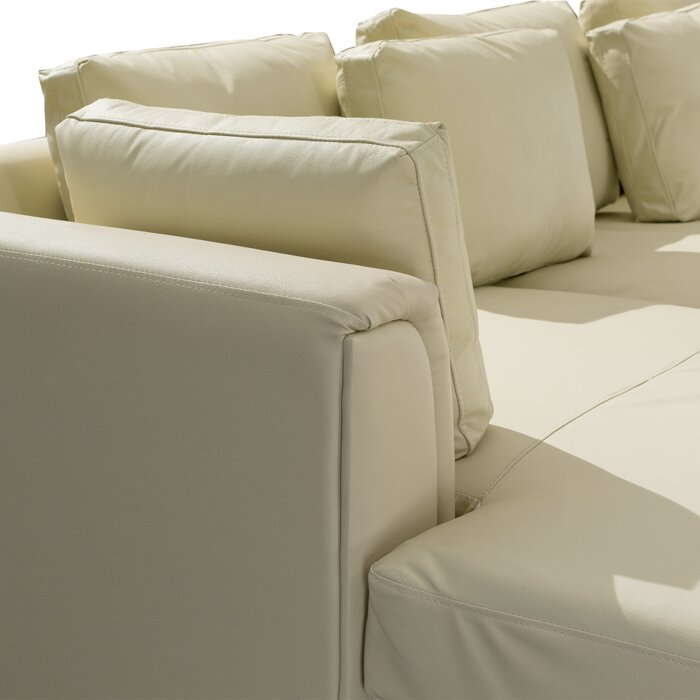 Swell Tachani Leather Sectional With Ottoman Ibusinesslaw Wood Chair Design Ideas Ibusinesslaworg