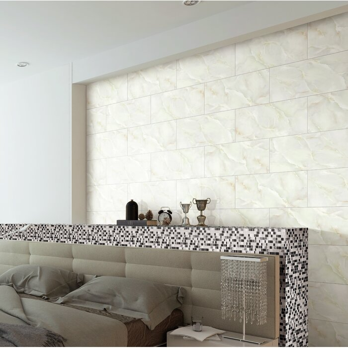 Jade Onyx Glazed Ceramic Wall Tile 12 X24 In Beige