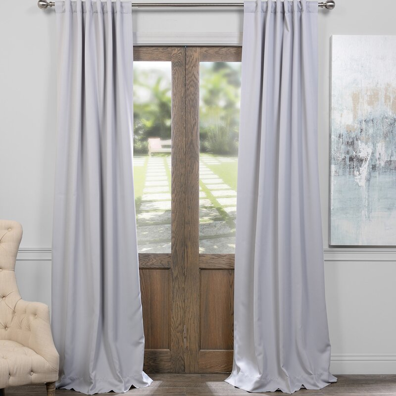 default_name - Darby Home Co Solid Blackout Thermal Rod Pocket Curtain Panels
