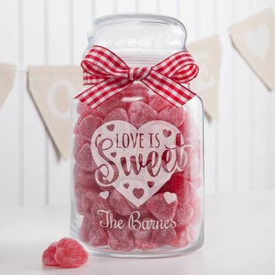 Love is Sweet Glass Kitchen Canister