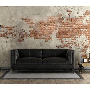 Vanda Top Grain Leather Loveseat by Orren..
